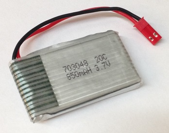3 x Qty of 3.7V 600mAh 25C Brand New LiPo Batteries w// JST /& Walkera Connectors