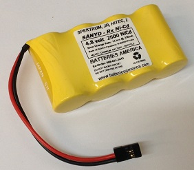 Cp2400scrw 2400mah Sanyo Ni Cd Receiver Battery Made W Cp 2400scr Sub C Cells Choose Voltage