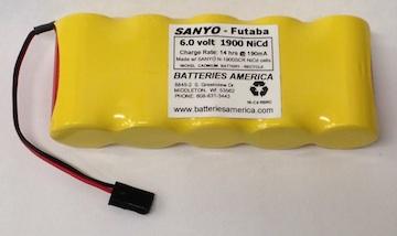 N1900scrw Sanyo 1900mah Sub C Battery Packs For Rc Hobby