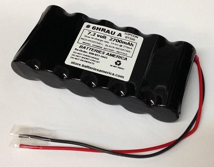 BT-52QAi: 7 2v 2700mAh NiMH battery insert for TOPCON BT