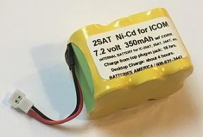2sat nicd 7 2v 350mah battery for icom ic 2sat ic 3sat ic 4sat